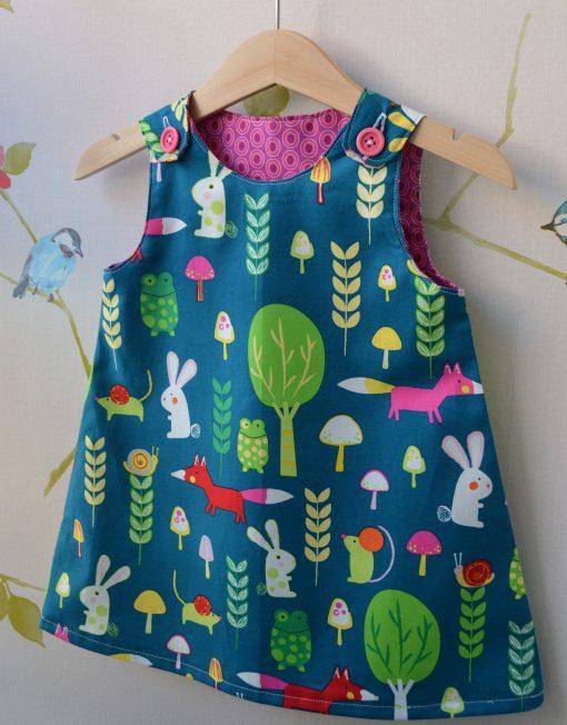 Girls Reversible Pinafore Dress