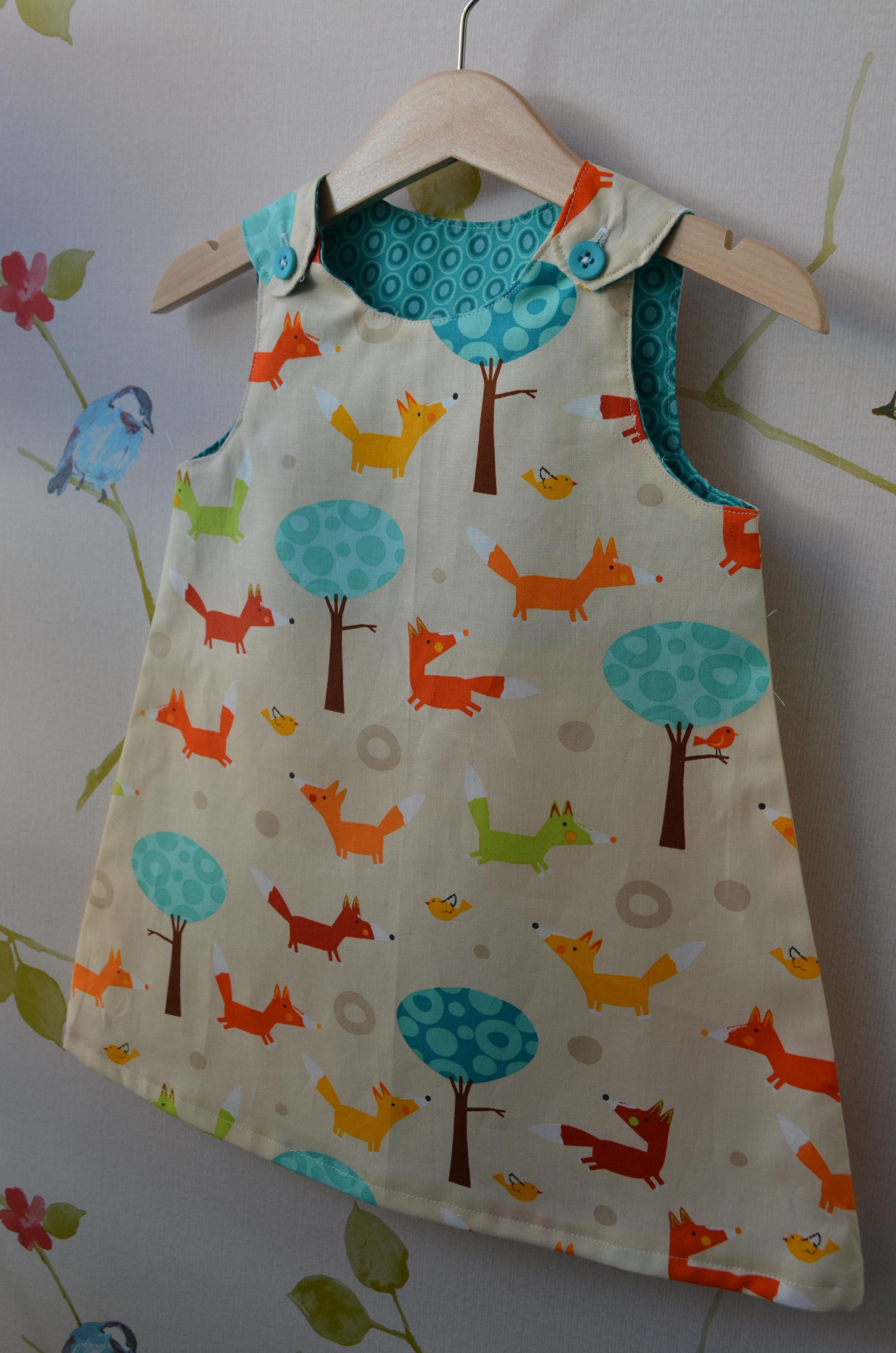 Girls Reversible Pinafore Dress The Craft Studio