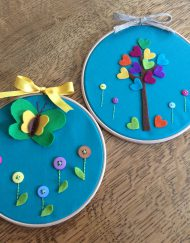 Kids Hoop Art