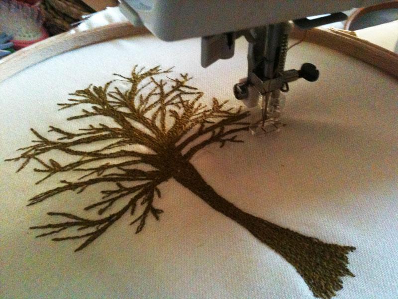 stitched tree